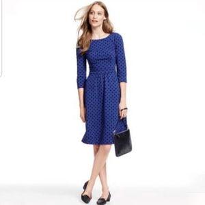 Boden Flocked Polka Dot Dress, Size 6P